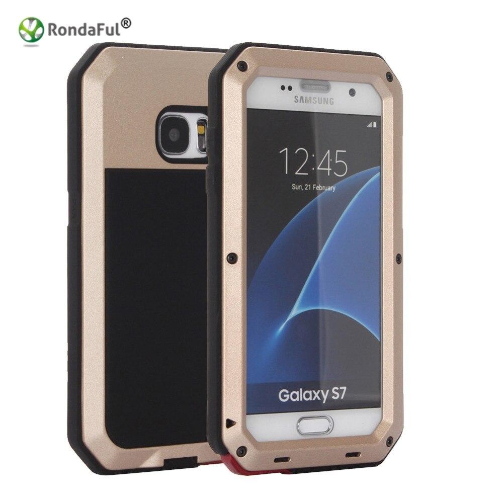 imágenes para Rondaful Impermeable Caja Del Teléfono para Samsung Galaxy S7 Cubierta Protectora Casos de Buceo Bajo El Agua IP68 Resistente 100% Sellado