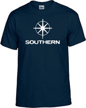 SOUTHERN TELEVISION NAVY CREW NECK SHORT SLEEVE TSHIRT2018 New Arrival MenS Fashion 2018