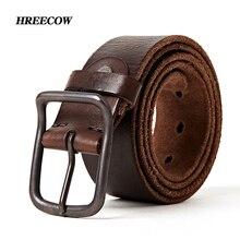 Ceintures en cuir véritable pour hommes, ceintures de styliste, accessoire de luxe, mode vintage, boucle ardillon pour magasin de jeans