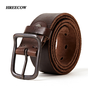 Image 1 - Top quality mens genuine leather belt designer belts men luxury strap fashion vintage pin buckle for jeans store star products