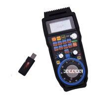 Wireless Mach3 MPG Pendant Handwheel for CNC Mac.Mach 3, 4 axis USB handheld unit Industrial remote control