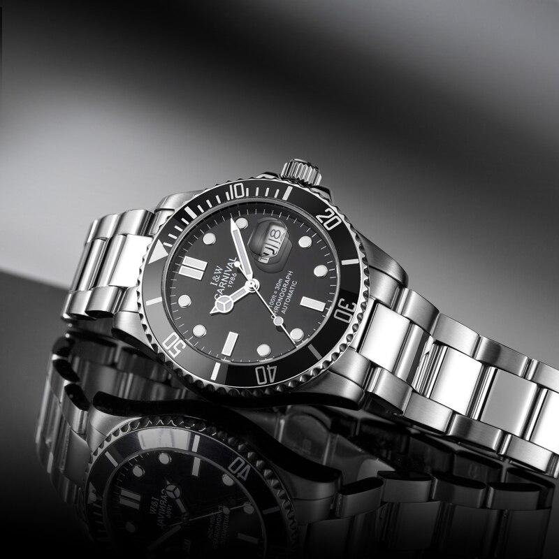 Business Sport Mechanical Watches Week Complete Calendar Luminous Fashion Casual Men Waterproof Watch Reloj Hombre