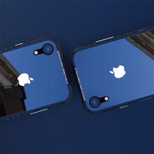 Luxury Thin Transparent Glass Case For iPhone XS XS Max Shockproof TPU Aluminum Metal Full Protection Cover Case For iPhone XR X