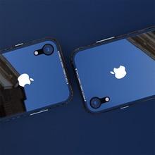 יוקרה דק שקוף זכוכית מקרה עבור iPhone XS XS מקסימום עמיד הלם TPU אלומיניום מתכת מלא הגנת כיסוי מקרה עבור iPhone XR X