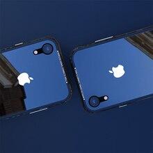 아이폰 xs xs에 대 한 럭셔리 얇은 투명 유리 케이스 최대 shockproof tpu 아이폰 xr x에 대 한 알루미늄 금속 전체 보호 커버 케이스