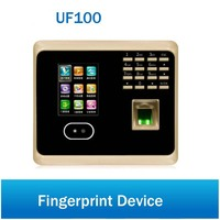UF100 Plus WiFi Biometric Facial Fingerprint Employee Time Attendance Face Recognition System Time Clock with Free Software