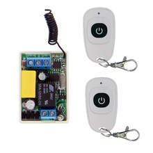 Mini Size  220V 1CH 1CH 10A Wireless Remote Control Switch Relay Receiver+ 2 X Waterproof Transmitter ,315/433.92 MHZ,Toggle