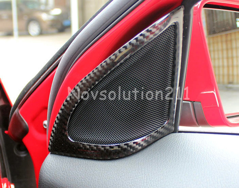 Auto Tweeter Speaker Cover Trim 2pcs For Benz A Class W176 2013 2015