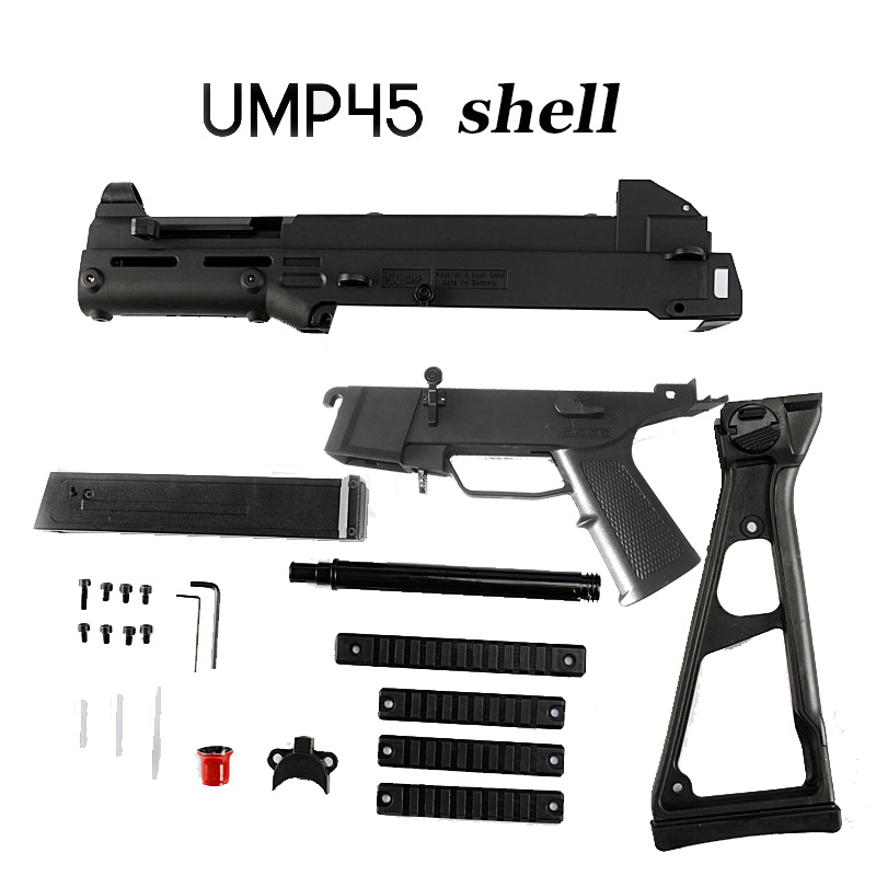 Ump 45 Shell Nylon Material Gel Ball Gun Accessories Toy Gun For Children Out Door Hobby