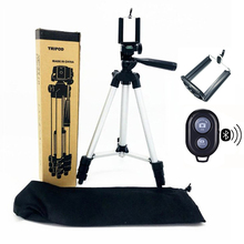 35 106cm Cell Phone Tripod for iPhone 6 7 X Andriod Phone Stand Holder Clip Set for DSLR Camera with Remote tripode para movil