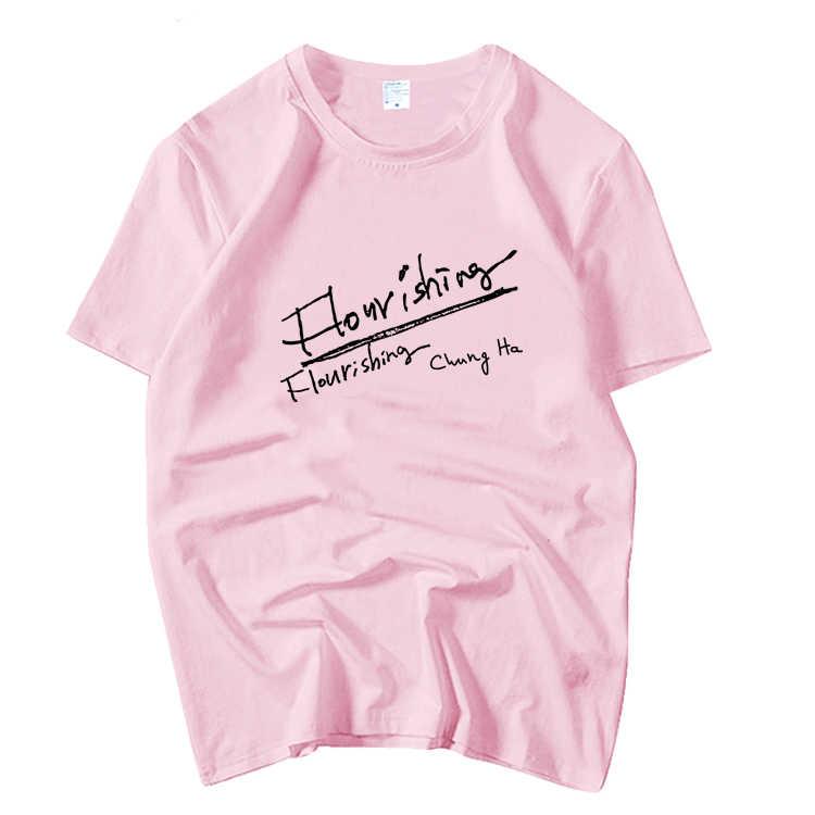 Kpop Membuat Suasana Berkembang Album Yang Sama Cetak O Leher Lengan Pendek T Shirt Musim Panas Unisex Gaya K-Pop Longgar T-shirt 5 Warna