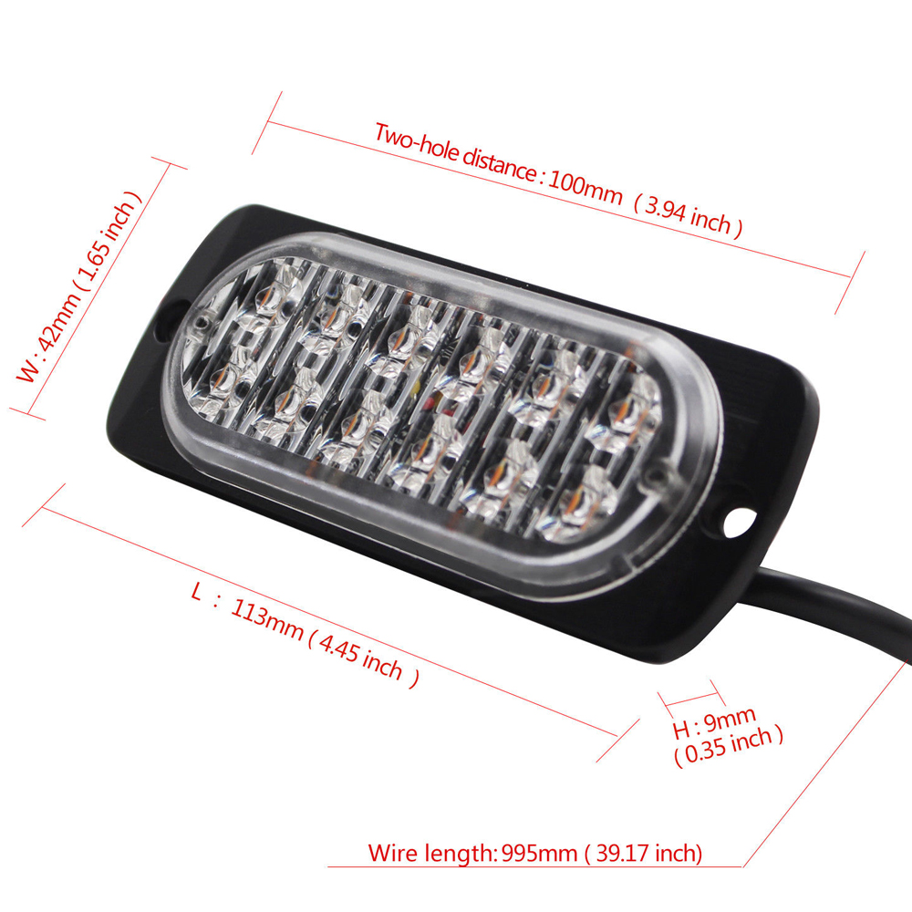 castaleca-4X-Ultra-Car-Truck-12-led-Strobe-Warning-Lights-19-flash-patterns-Apply-to-Signal