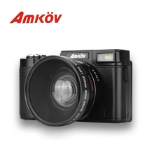 Big sale AMKOV CDR2 Digital Camera CD-R2 Video Camcorder 800W Pixel 3 inch TFT Screen with UV Filter 0.45X Super Wide Angle Lens