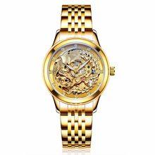 1352d9cc28d Marca de luxo Relógios das Mulheres Automático Mecânica Relógios de Ouro  Para As Mulheres Phoenix Mecânica