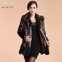 US womens faux Rabbit fur leather fur lining thick jacket coat outwear parkas Fashion Winter Women's Fur medium size Design