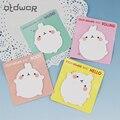 Милый кролик блокнот бумага Стикеры блокнот Kawaii Канцелярские Школьные принадлежности 4 цвета доступны - фото