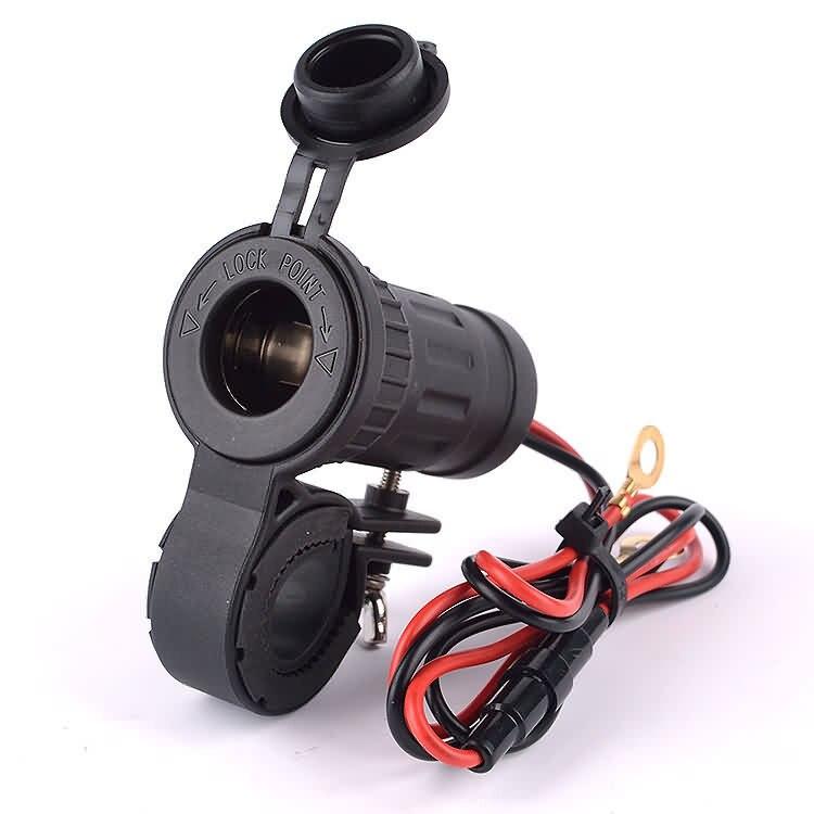 IZTOSS MotorcycleHandle Bar adaptador de corriente para teléfono cargador encendedor de cigarrillos toma de corriente con cable de 60 cm