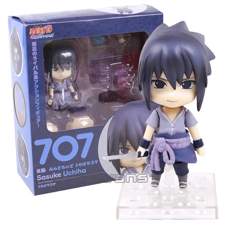Naruto Shippuden Uchiha Sasuke 707 Boneca Nendoroid PVC Action Figure Collectible Modelo Toy