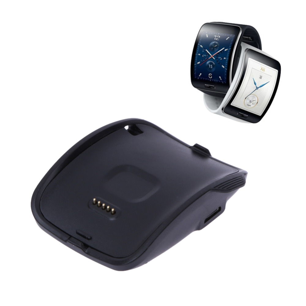 2PCS Portable Details About Black Plastic Charging Dock Cradle for Samsung Galaxy Gear S Smart Watch SM-R750