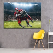 Rugby Football Sport Rain Stadium Painting 1 Piece Style Picture Modern Canvas Print Type Home Decorative Wall Artwork Poster моноблок hp eliteone 800 g5 intel core i7 9700 3000 mhz 23 8 1920x1080 8gb 512gb ssd dvd rw intel uhd graphics 630 wi fi bluetooth windows 10 pro