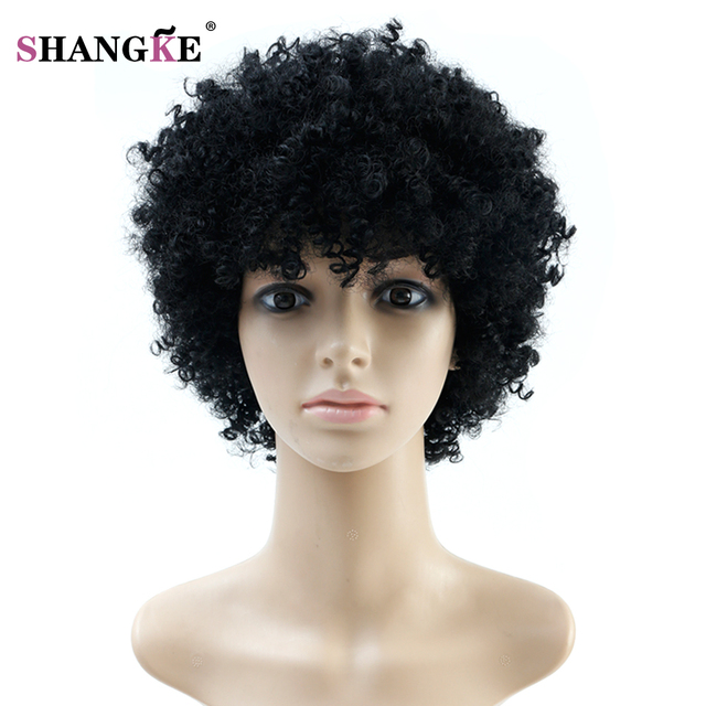 Perruque Afro naturelle crépus bouclés perruques