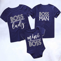 2019 Mini Boss Family t shirt Baby Romper Dad and Son matching clothes Family matching clothes mom and daughter matching clothes
