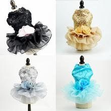 Pet wedding dress Dog Clothes Dress Sweety Princess Teddy Puppy Wedding Dresses Fot Small Medium Dogs Accessories