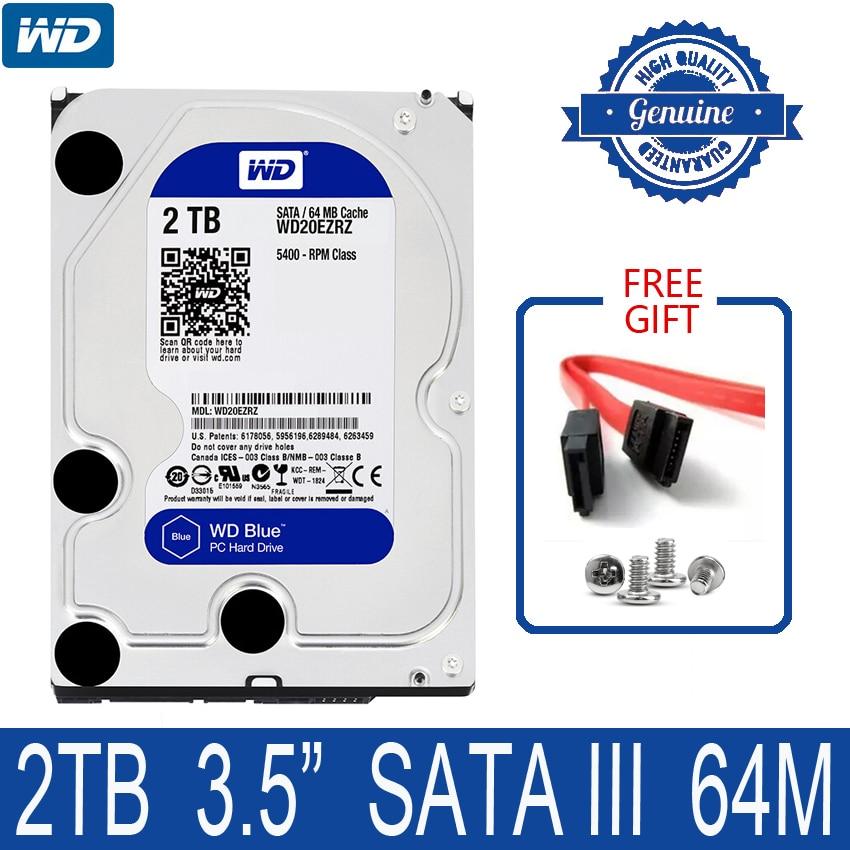 WD BLUE 2TB Internal Hard Drive Disk 3 5 5400 RPM 64M Cache SATA III 6Gb
