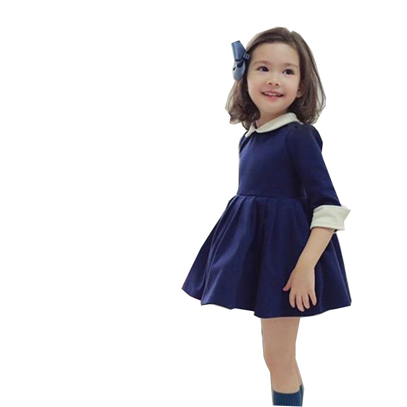 615173674 2018 Brand Girls Spring Autumn Long Sleeve Dress Kid School Cute ...