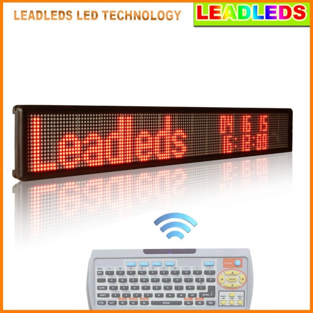 16*128pixel Red Remote Programming Partition Running Text Advertising LED Display Board With Keyboard Input