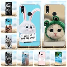 For Huawei Honor 8C Case Soft TPU Silicone BKK LX2 LX1 L21 Cover Dog Pattern Coque Bag