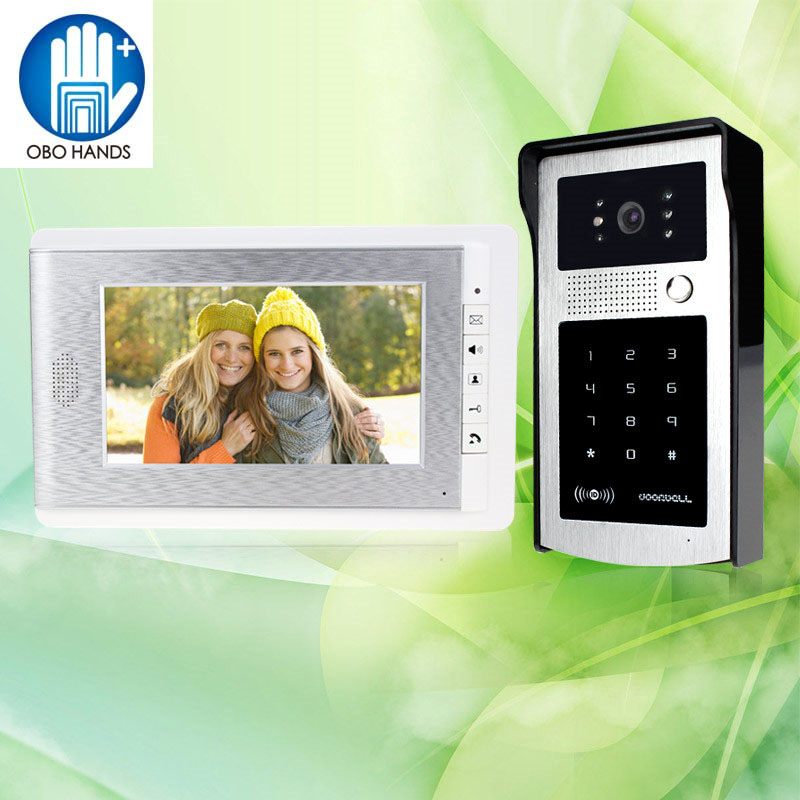 7 Wired Color Video Door Phone Intercom System Video Doorbell Indoor Monitor Unit with LED Night Vision Camera for Home Safe 7 inch color tft lcd wired video door phone home doorbell intercom camera system with 1 camera 1 monitor support night vision