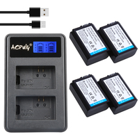 4pc NP FW50 Batteria NP FW50 Npfw50 Battery Dual Charger For SONY NEX 5T 5R 5TL