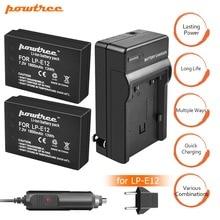 2Packs 7.2V 1800mAh LP-E12 LPE12 LP E12 Li-ion Battery charger+Car charger  for Canon EOS M10 M100 M2 100D Kiss X7 Rebel SL1 L15 аккумулятор canon lp e12