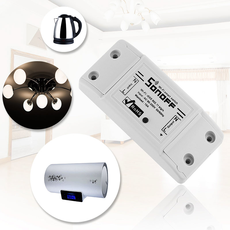 Sonoff Smart Home Intelligentne Diy Timer Wifi Lüliti + Juhtmega - Nutikas elektroonika - Foto 2