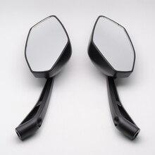 Черный мотоцикл скутер сторона зеркало заднего вида для honda ca125 rebet vt125 тень 400 vt750 cb500 cb1300 cb900 cb600 hornet600