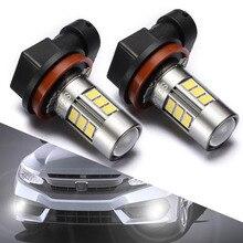 Sealight 2 шт. фар автомобиля H11 H8 LED H16 туман лампочка Универсальный Авто Туман лампы дневного Бег свет 1200lm 6000 К белый