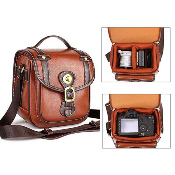 Popular Vintage Leather Camera Bag Dslr-Buy Cheap Vintage Leather ...