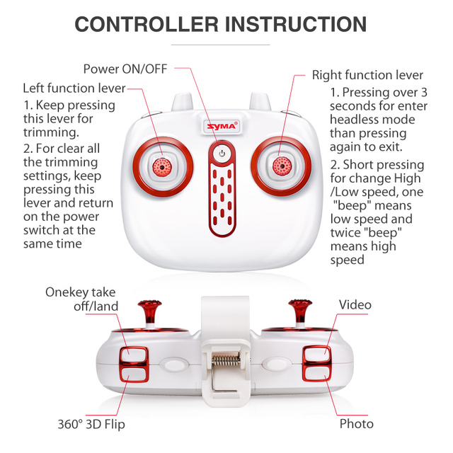 Syma Newest X5Uw Drone With Wifi Camera Hd 720P Real-Time Transmission Fpv Quadcopter 2.4G 4Ch