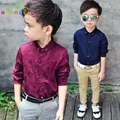 Boys Blouses & Shirts High Quality Spring Children Shirt Baby Boy Clothes Kids Children Clothing For Weddings Cotton Blouse B014