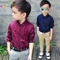 Niños blusas y camisas de la alta calidad del resorte de los niños camisa de la ropa del bebé niños niños clothing para bodas de algodón blusa b014