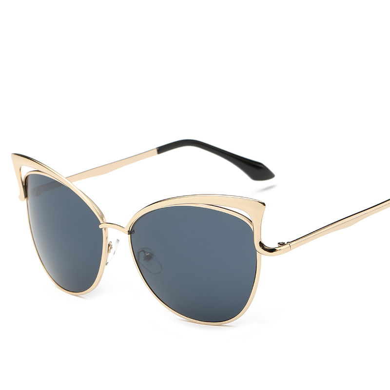Metalowe różowe okulary Cat Eye Okulary przeciwsłoneczne damskie - Akcesoria odzieżowe - Zdjęcie 4