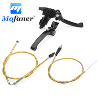 Alloy Folding Brake Clutch Lever Clutch Cable Throttle Cable For Chinese Made Pit Dirt Bike 50cc