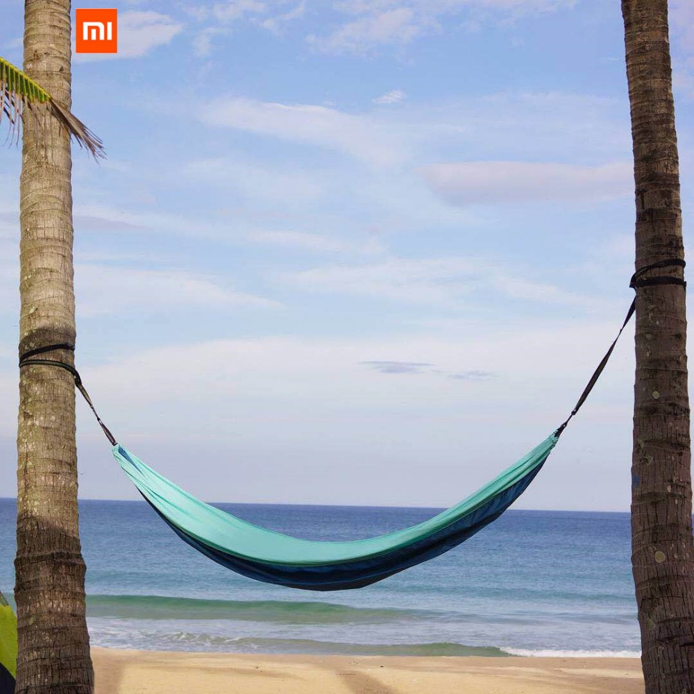 Image 4 - Xiaomi Mijia zaofeng Hammock Swing Bed 1 2 Person Parachute Hammocks Max Load 300KG for Outdoor Camping Swings Parachute cloth-in Smart Remote Control from Consumer Electronics