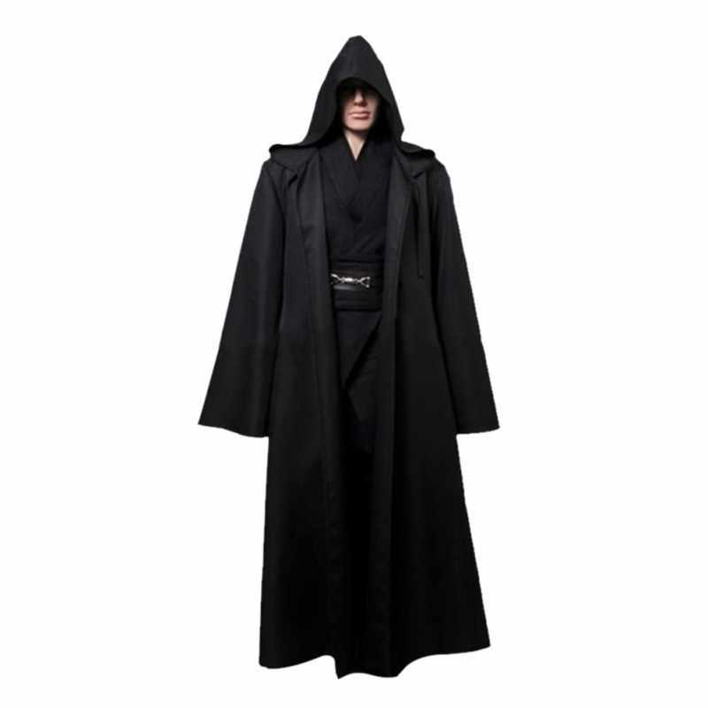 65ed5d1df8 ... Star Wars Jedi Cloak Cosplay Costumes Adult Men Hooded Robe Cloak Cape  Costume Halloween Christmas DressWith ...