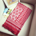 2016 Nation Floral Women Scarves Summer Ancient Sunscreen Scarf Tassels Foulard New