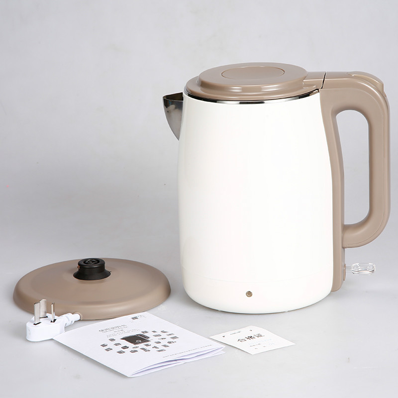 Electric kettle boiling water pot 304 stainless steel household insulation 1.5L electric kettle boiling pot 304 stainless steel home insulation 1 7l