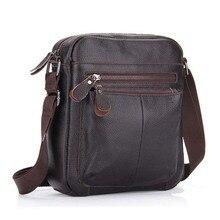 Genuine Leather Men's Messenger Bag Business Shoulder Crossbody Bag Christmas Gift designer handbags high quality NB052