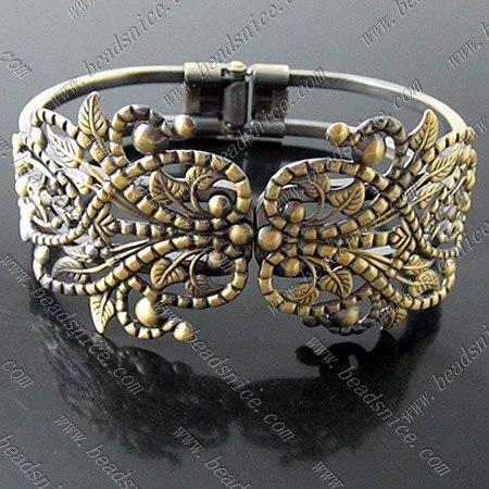 Beadsnice Cabochon Jewelry Making Brass Bracelet Base Nickel-Free Lead-Safe Trendy Jewellery Finding Personlize Bangles ID13783