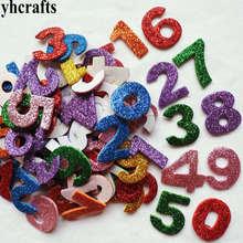 360PCS 4bags LOT 0 9 numbers Glitter foam stickers 10 design Scrapbooking kit Early educational Kindergarten